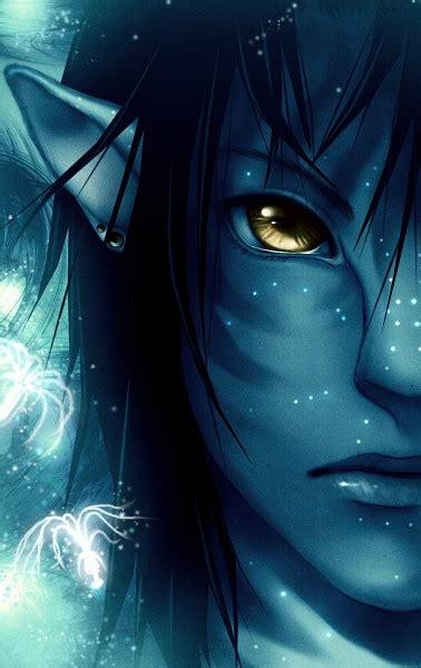blue skin zerochan anime image board