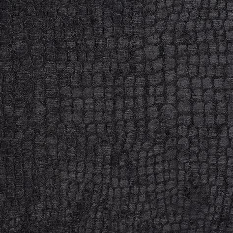 Black Upholstery by Black Textured Alligator Shiny Woven Velvet Upholstery
