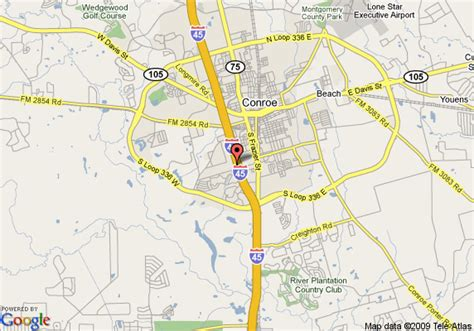 map conroe texas map of conroe days inn conroe