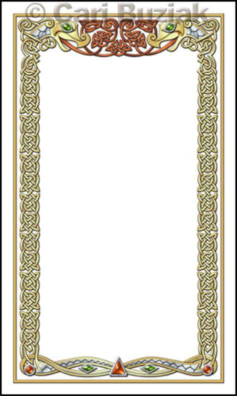tarot card template frame aon celtic