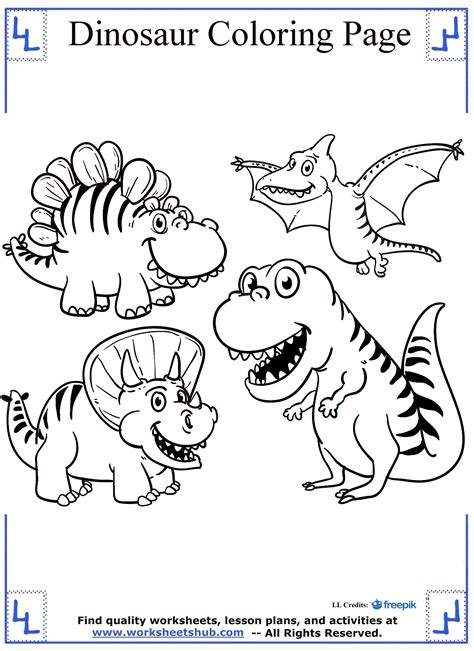 dinosaur color pages dinosaur coloring pages