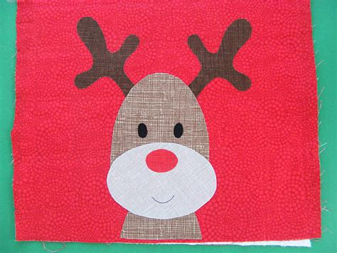 rudolph  red nosed reindeer   applique pattern