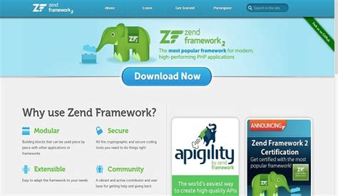 zend framework 2 layout phtml 10 php frameworks for developers to help build challenging