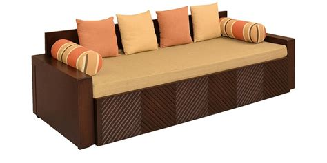 Buy Ohio Sofa Cum Bed in Brown Colour by @home Online