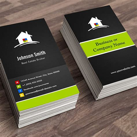 real estate business card template real estate broker premium creative innovative sided standard business cards pack of