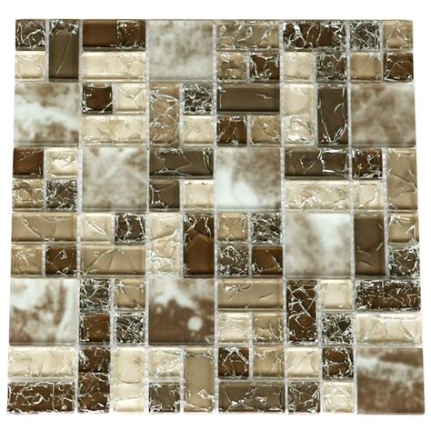 crackle glass tile various sized crackled glossy glass