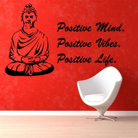 100 monochrome home decor 2015 wall decal buddha buddha words wall decal quotes positive mind yoga studio