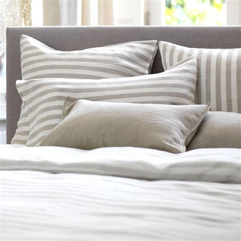natural linen comforter coastal stripe natural linen bedding set by secret linen