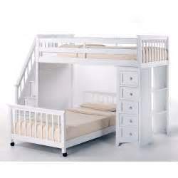 Loft And Bunk Beds Ne Schoolhouse Stairway Loft Bed With Chest End White Bunk Beds Loft Beds At Hayneedle