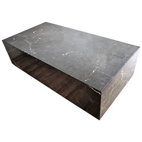 Modern Low Coffee Table Mid Century Modern Italian Black Marble Rectangle Low Coffee Table For Sale At 1stdibs