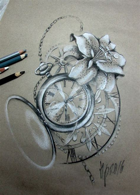 clock face tattoos designs collection of 25 clock pocket and roses tattoos sketch