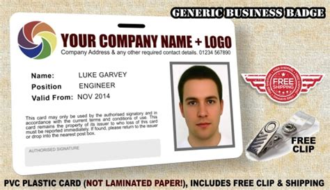 make company id cards create your personalised company badge id card high