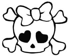 skull bones coloring pages clipart