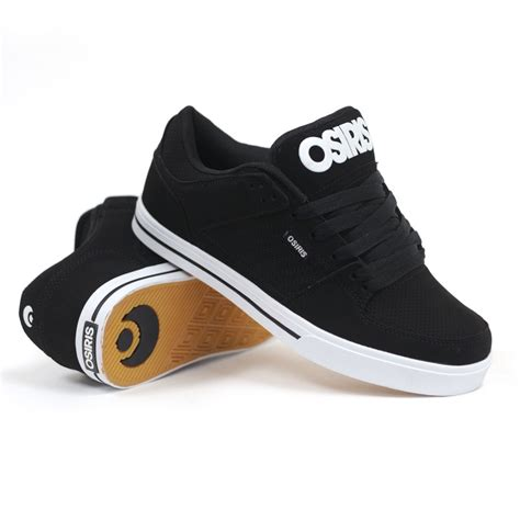 skate slippers osiris protocol black black white s skate shoes