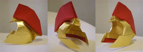Origami Helmet - trojan helmet origami usc tailgate time
