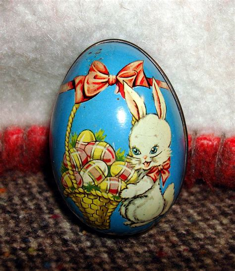 vintage tin easter bunny egg england from ottosantiques