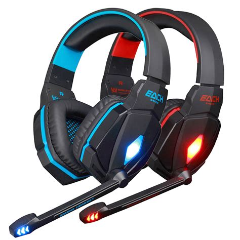 Headset Gaming Raigor 20 each g4000 pro gaming headset 3 5mm led stereo pc headphone with microphone ebay