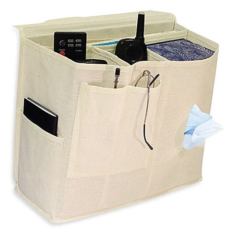 bed caddy canvas bedside caddy bed bath beyond