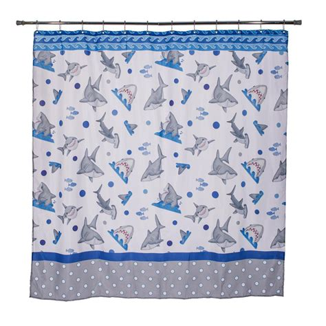 shower curtain fish design fish n sharks 72 in mini polka dot shower curtain 70023