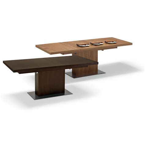 vita extendable modern dining table domitalia