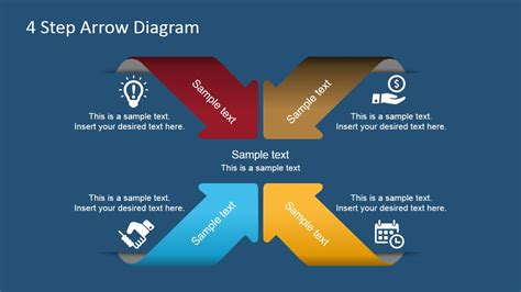 4 step segmented circular diagrams for powerpoint slidemodel 4 step arrows diagram for powerpoint slidemodel