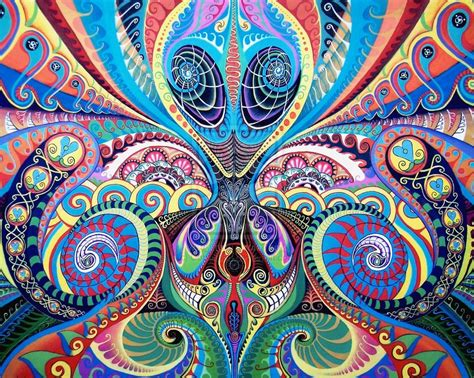 the pattern you see on acid psychedelic wallpaper