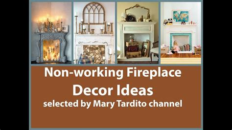 non working non working fireplace decor ideas youtube