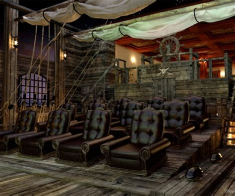 awesome pirate theme home theater  pirate tavern