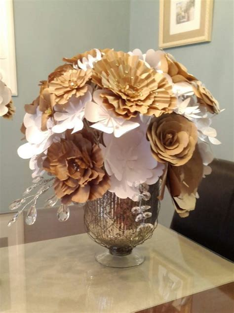 Wedding Flower Paper Centerpiece by Show Me Your Paper Flowers Weddingbee