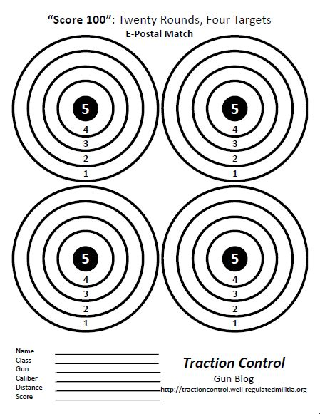 printable centerfire rifle targets october s epostal match score 100 at traction control