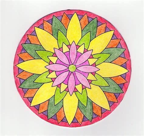 imagenes de mandalas faciles pintados dibujos de mandalas pintados imagui