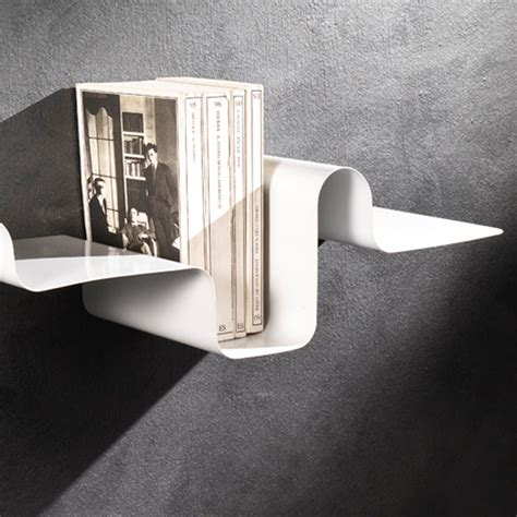 mensole in metallo mensola a parete in metallo bianco 85 cm