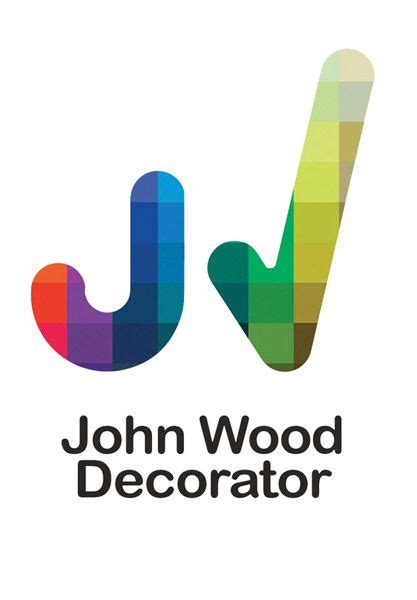 john wood painterdecorator tick logo design