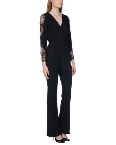 Patrizia Pepe Jumpsuit lyst patrizia pepe jumpsuits in black