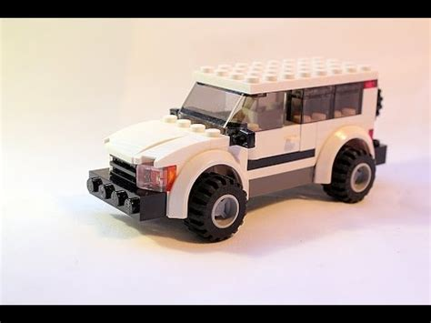tutorial lego 4x4 red jeep lego moc tutorial how to build simple lego 4x4 suv youtube