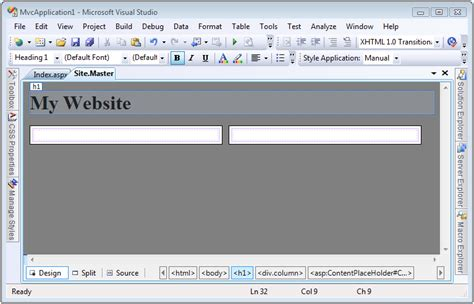 how to design layout in mvc 5 creating page layouts with view master pages c