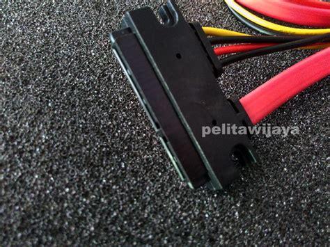 Kabel Sata 15 Dan 7 Pin Famale Ke 0 5 Meter jual kabel sata slimline 7 15pin pelitawijaya shop surabaya indonesia