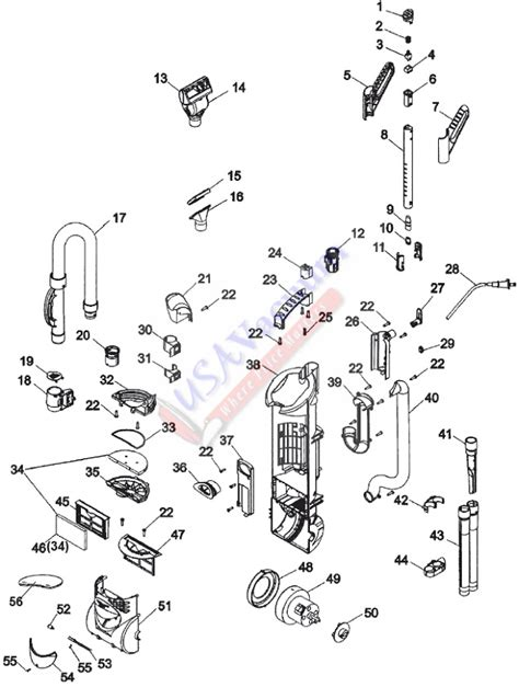 Vaccum Parts hoover u5182 powermax cyclonic bagless upright vacuum parts usa vacuum
