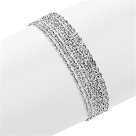 multi strand sterling silver bracelet 7 5 quot shane co