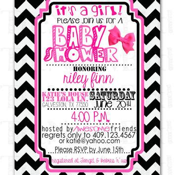 Pink Black And White Baby Shower Invitations by Best Black And White Baby Shower Invitations Products On