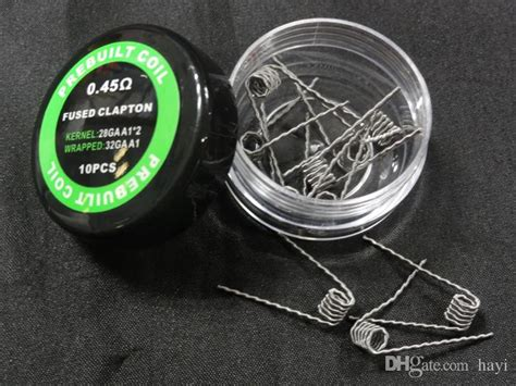 Premium Twisted Messes Fused Clapton Royal Pre Build Coil 1 Pasang pre built coils fused clapton flat mix twisted hive tiger heating resistance wires