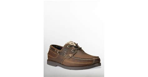 timberland kiawah boat shoe in brown for lyst