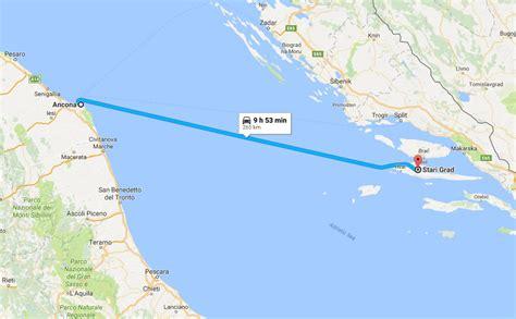 ancona ferry ancona to stari grad ferry route split croatia travel guide
