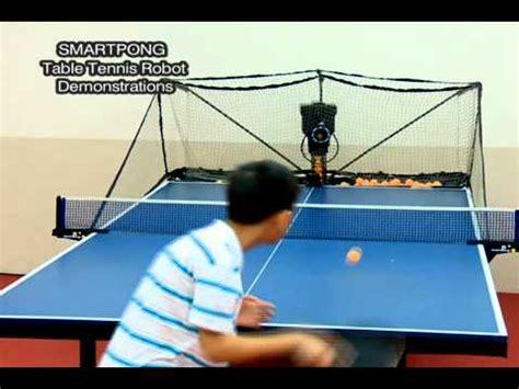 smartest pingpong table tennis robot youtube