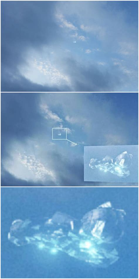 Area 51 Rhino Nonfiction crystalline ufo morphing in and out of the clouds