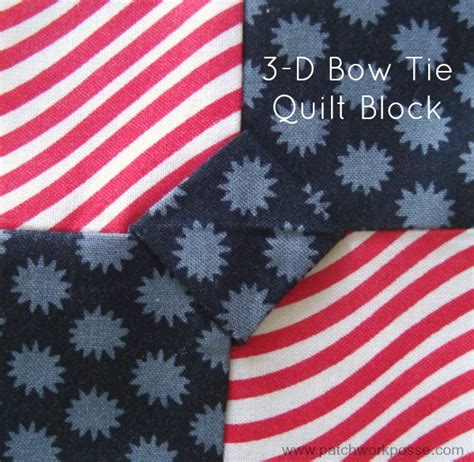 Dimensional Bow Tie Quilt Pattern 3 dimensional bow tie quilt block