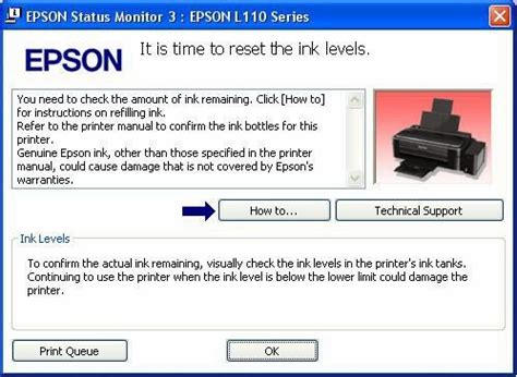 Printer Epson L120 Dan L210 cara reset ink run out epson l110 l210 l300 l350 l355
