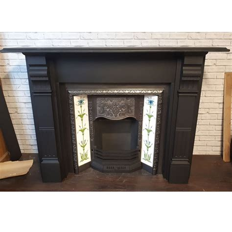 slate fluted panel fireplace surround victorian