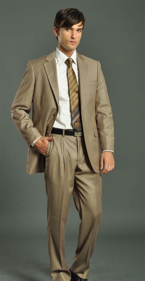 Colors That Match Brown men s two button tan suit men s suits amp formal wear