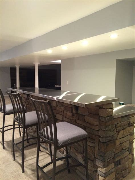 Stainless Steel Bar by Stainless Steel Bar Tops Basement Outdoor Countertop